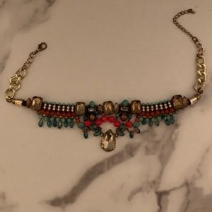"Fun ""tribal"" statement necklace"